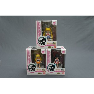 (T7E26) Sailor Moon pretty guardian Tamashii Buddies set Sailor Moon - Venus - Mars Bandai
