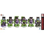 KIDS LOGIC Kids Nations TF04 Devastator Transformers set of 6