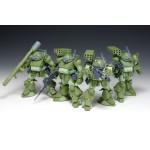 Armored Trooper Votoms Scope Dog Turbo Custom The Last Red Shoulder set of 4 FiguresWave