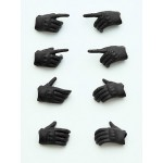 Little Armory-OP3 figma Tactical Gloves Stealth Black