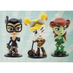 DC Comics Mini Figure Bombshells Catwoman & Harley Quinn & Poison Ivy Cryptozoic Entertainment