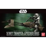 Star Wars Scout Trooper and Speeder Bike 1/12 scale Model kit Bandai