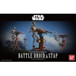 Star Wars Plastic Model Kit 1/12 BATTLE DROID AND STAP Bandai