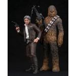 ARTFX+ Star Wars The Force Awakens Han Solo & Chewbacca 1/10 Kotobukiya