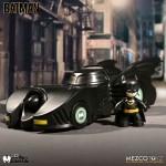 2 Inch Mezitz Mini Batman 1989 Tim Burton Batmobile with Batman Mezco