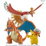 Pokemon Plamo Collection Ho-Oh & Charizard & Ash's Pikachu Set Model kit Bandai