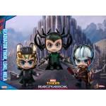 CosBaby Thor : Ragnarok Size S Thor (Gladiator/Metallic) & Loki (Metallic) & Hela Set Hot Toys