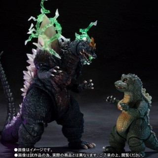 S.H Monster Arts Space Godzilla & Little Godzilla Special Color ver. Bandai Limited