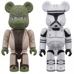 BEARBRICK Star Wars YODA (EP2) & CLONE TROOPER (EP2) Set of 2 Medicom Toy