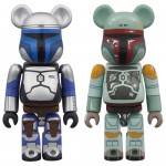 BEARBRICK Star Wars JANGO FETT & BOBA FETT Set of 2 Medicom Toy
