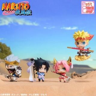 Petit Chara Land NARUTO Shippuden Nana Han de Tenjiku Mezasuttebayo ! Saiyuki-hen box of 4 Megahouse limited