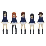 Girls und Panzer the Movie 1/35 Image Scale Ankou Team Figure Set of 5
