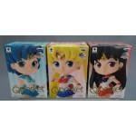 Sailor Moon Qposket petit Vol.1 set of 3 Sailor Mars - Sailor Moon & Sailor Mercury Banpresto