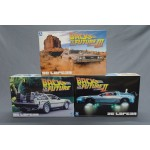(T16E12) Back to the future De Lorean model 1/24 set of part I-II-III Aoshima