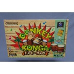(T4E7) Nintendo game cube Donkey Konga complete set very good condition
